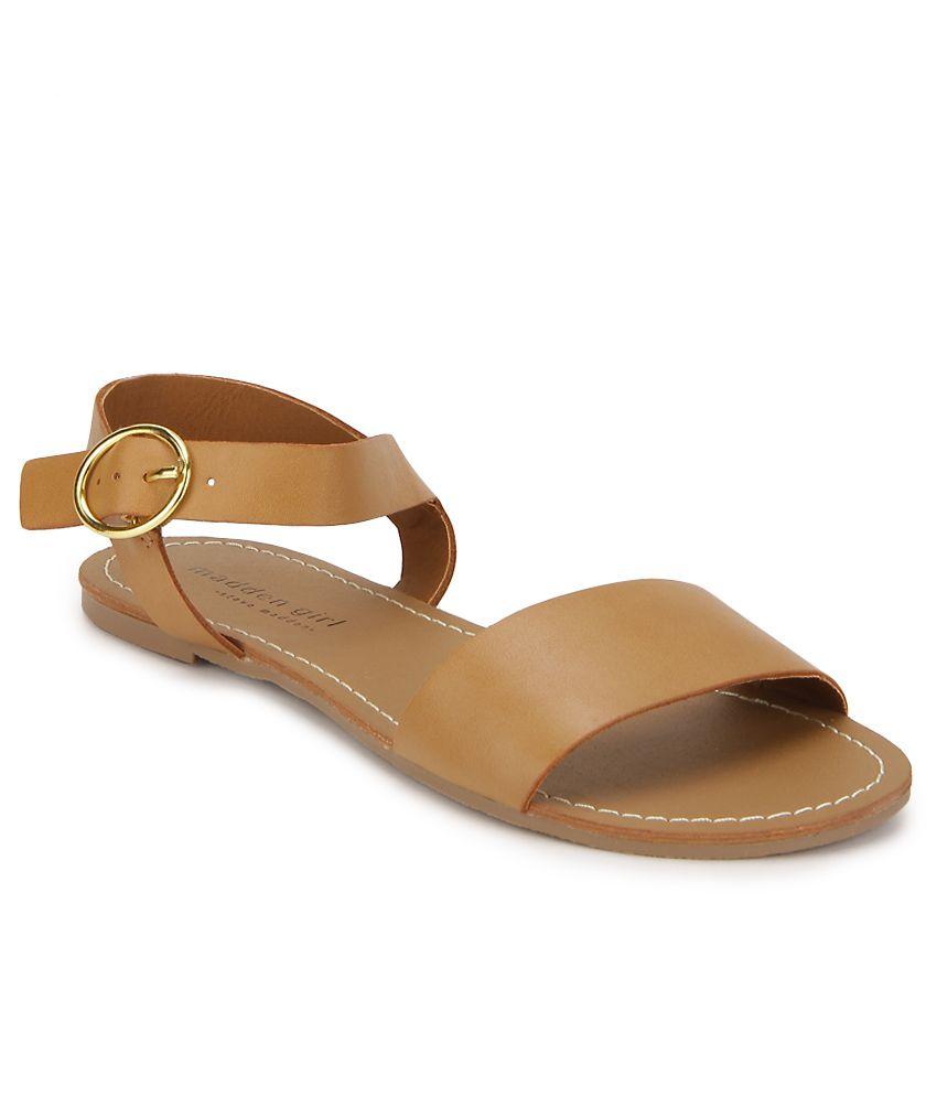 Steve Madden Delphine Tan Flat Sandals