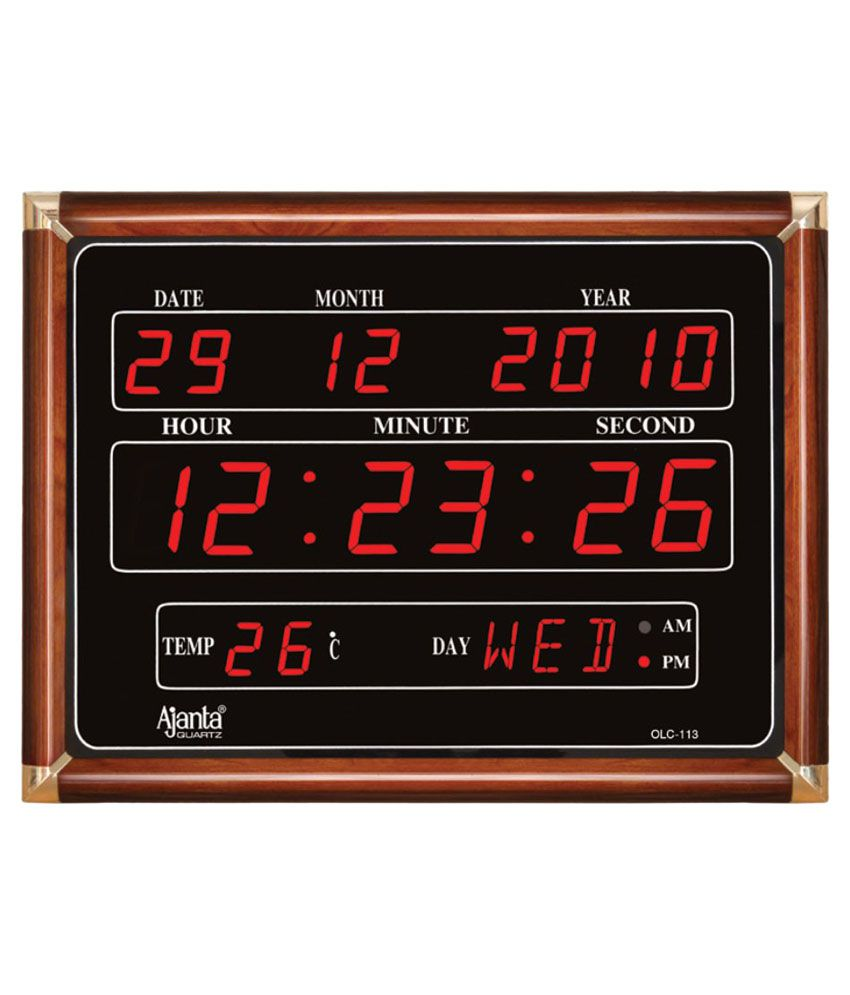 Ajanta home decor price list in india april 2018 for Led digital wall clock in india