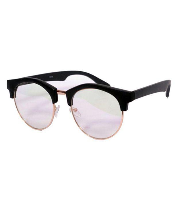 Fashion Swipe Cream Round Sunglasses