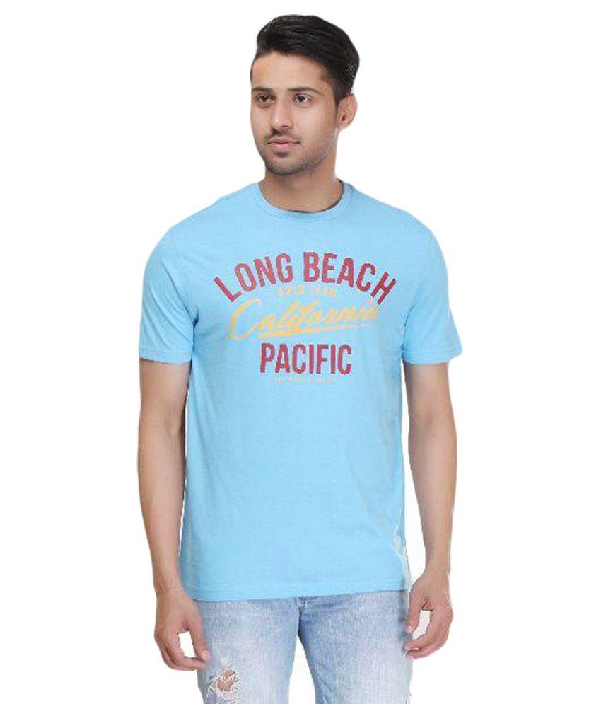 Ishwa Blue Round T Shirts