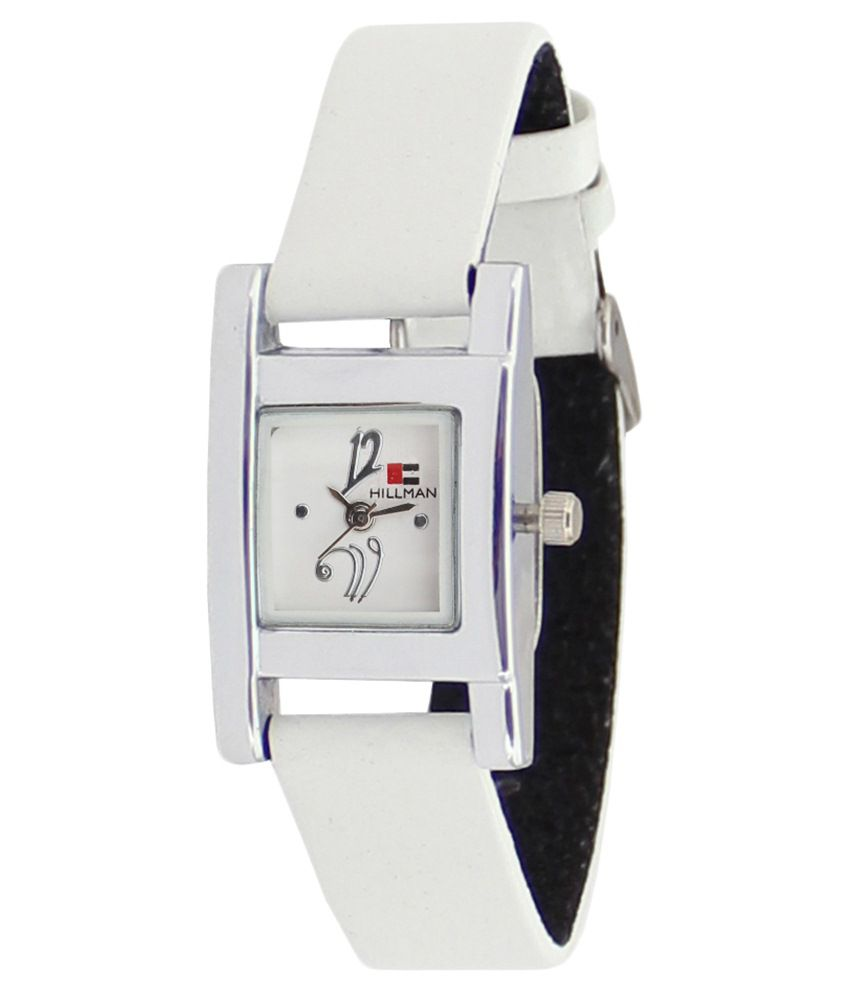 Hillman White Leather Wrist Watch For Women