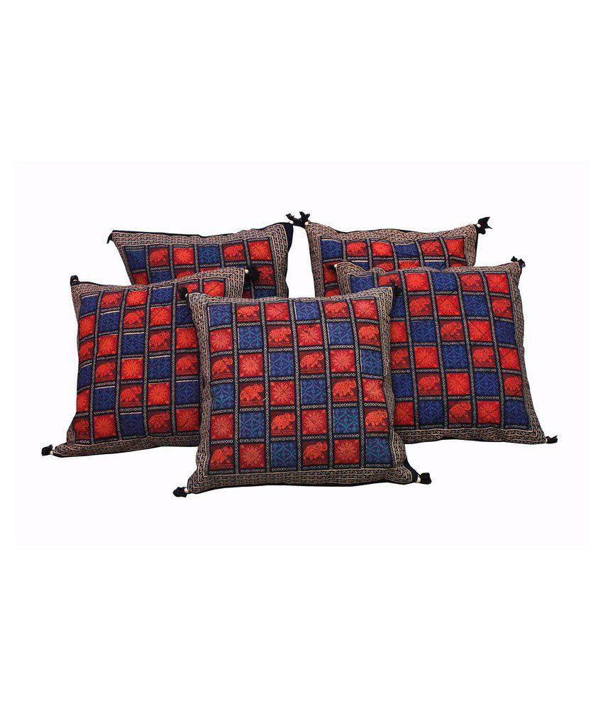 Shyam Creation Multicolour Cotton Cushion Covers Set Of 5