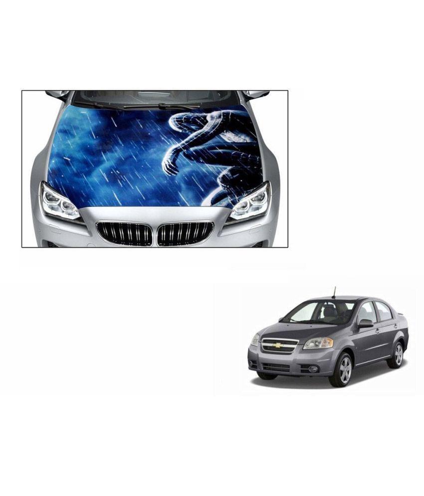 Speedwav car hood bonnet vinyl decal spider man blue maruti alto 800