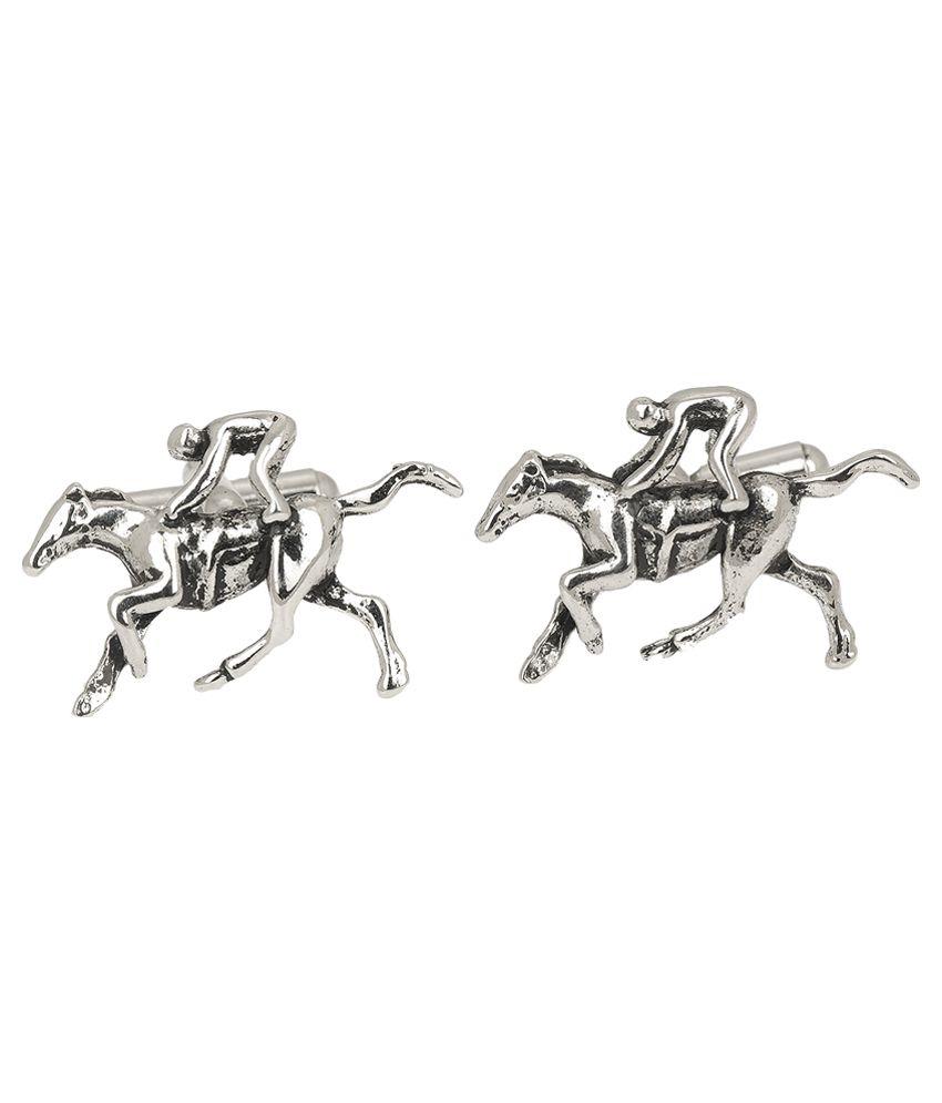 Stylish Silver Metal Cufflinks for Men