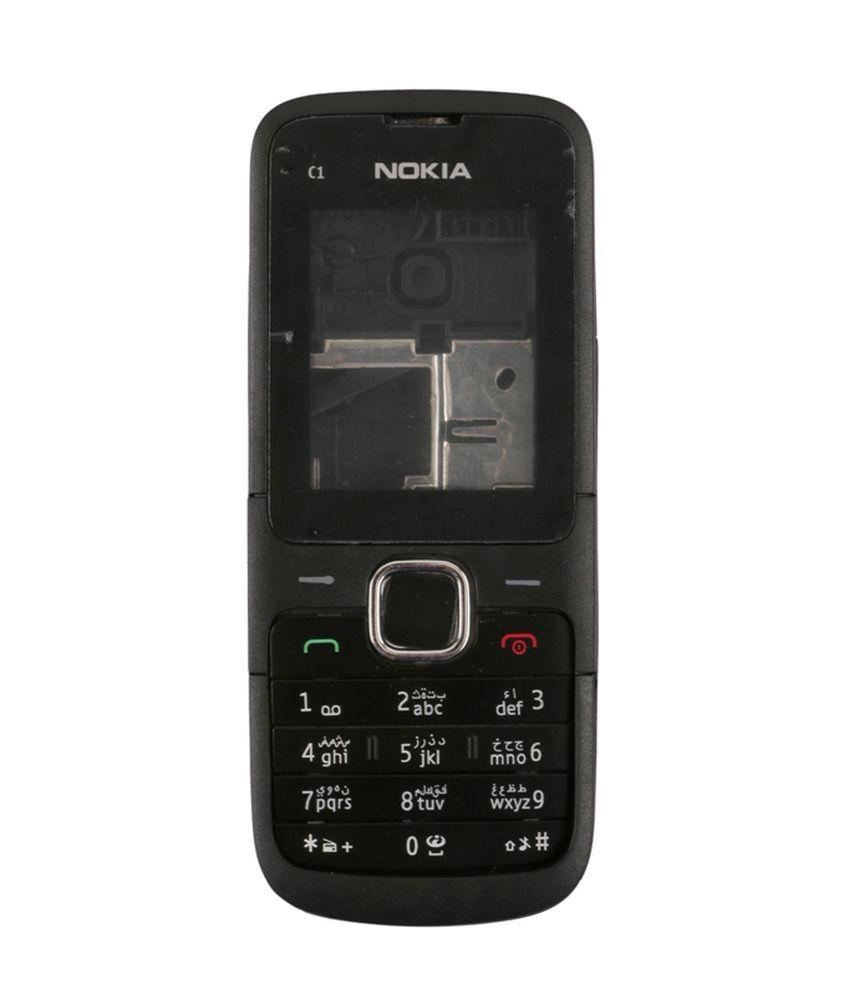 Ekon Housing Body For Nokia C1-01 - Black - Mobile Spare ...