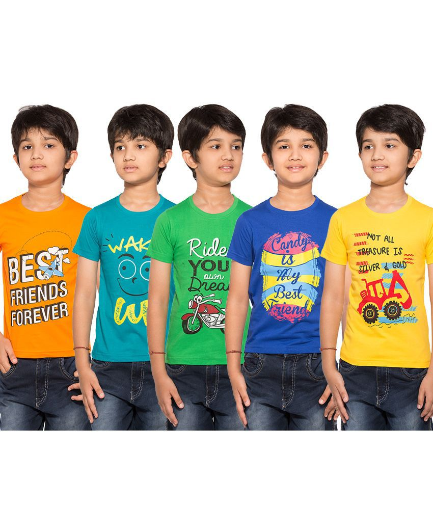 85ebdc0e Maniac Multicolour Half Sleeves T-Shirts - Pack of 5 - Buy Maniac  Multicolour Half Sleeves T-Shirts - Pack of 5 Online at Low Price - Snapdeal