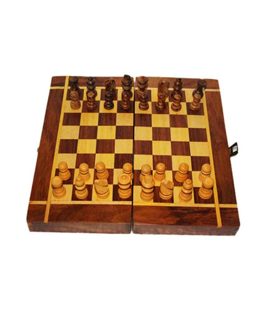 Vazeer and Sons Brown Wooden Chess Board