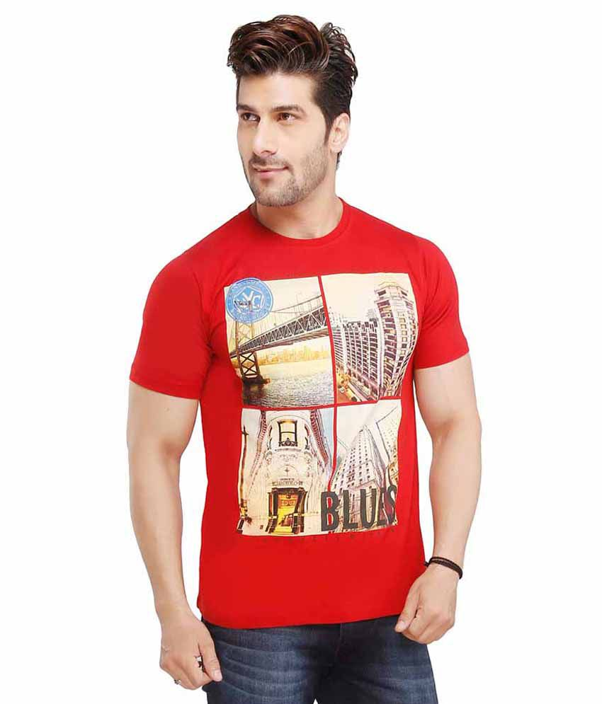 Jazzup Red Round T Shirts