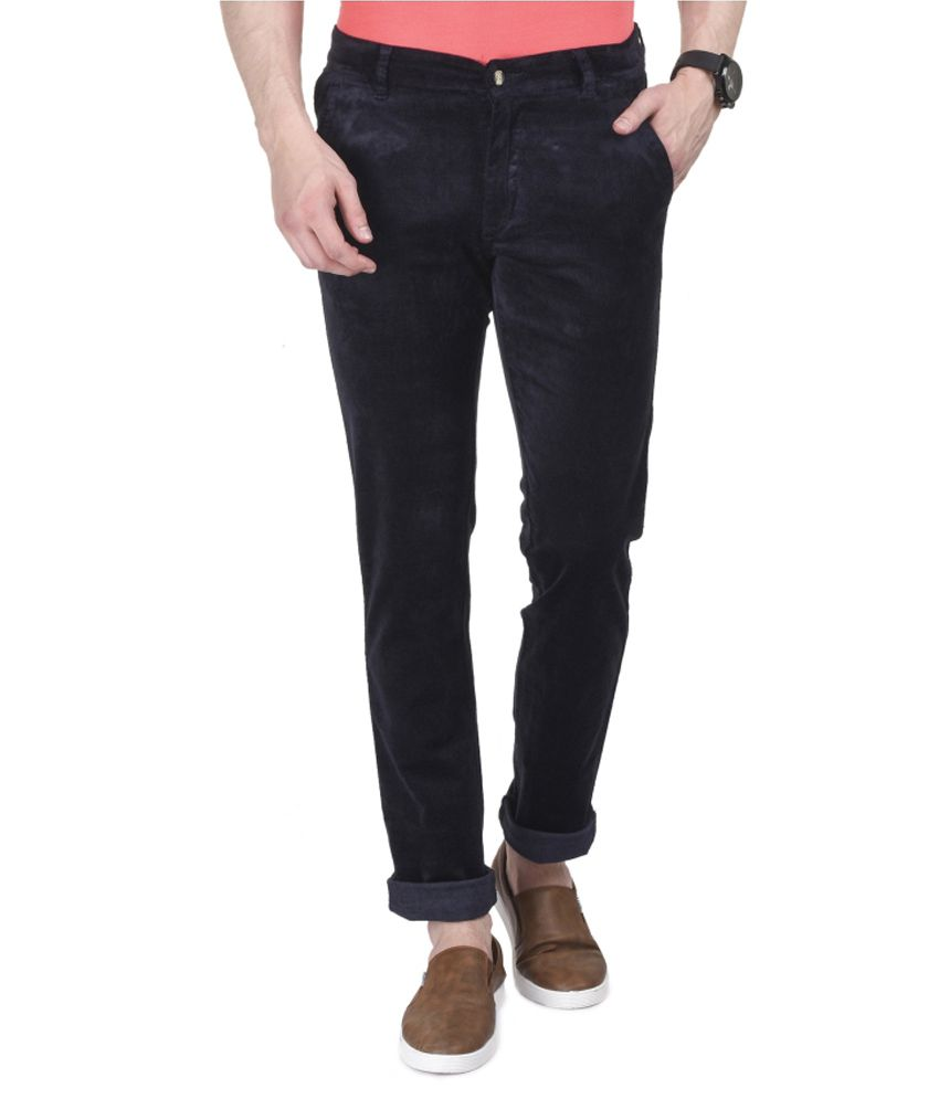 Ruace Navy Slim Fit Chinos