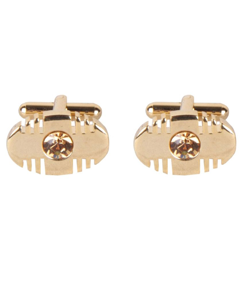Sushito Golden Metal Cufflinks for Men