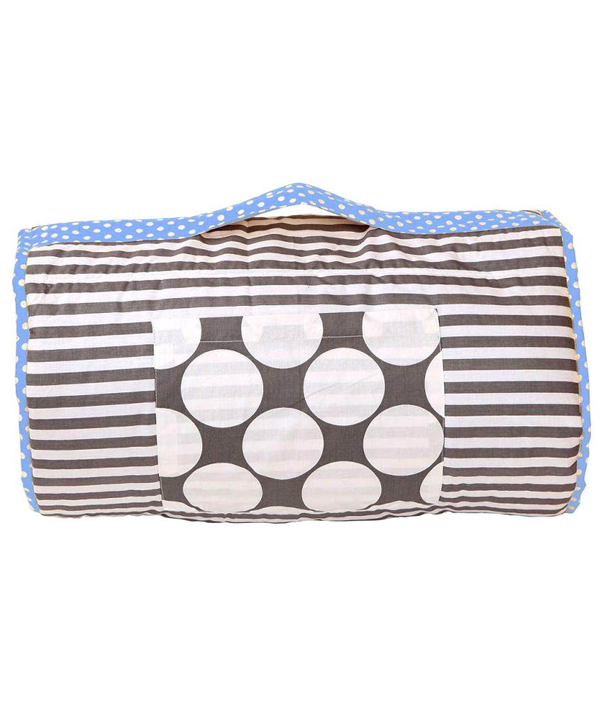 Bacati Multicolour Cotton Nap Mat Cum Sleeping Bag Bag for Kids Baby Blanket/Baby Swaddle/Baby Wrap