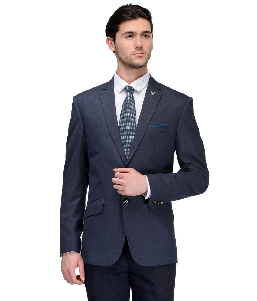 95f6c769679 ... Buy Lambency Black ... Canary London Navy Casual Blazers Snapdeal Price.  Suits .