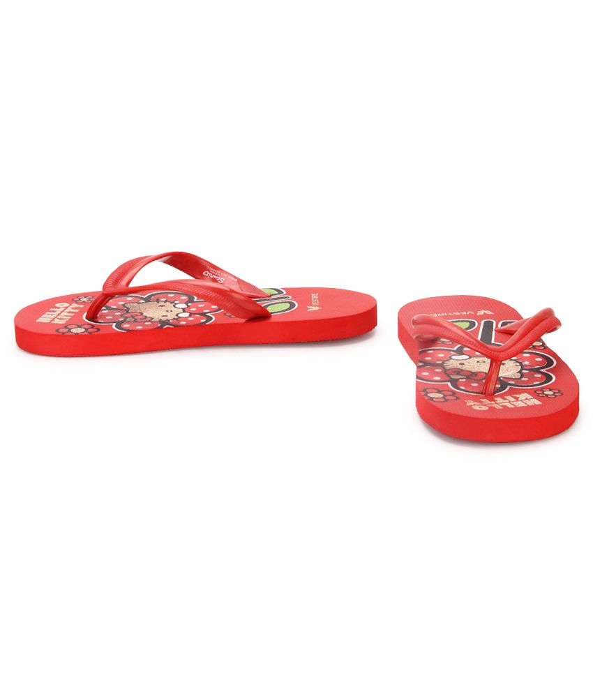 0f5b55b156c1 Hello Kitty Red Flip Flops For Kids Price in India- Buy Hello Kitty ...