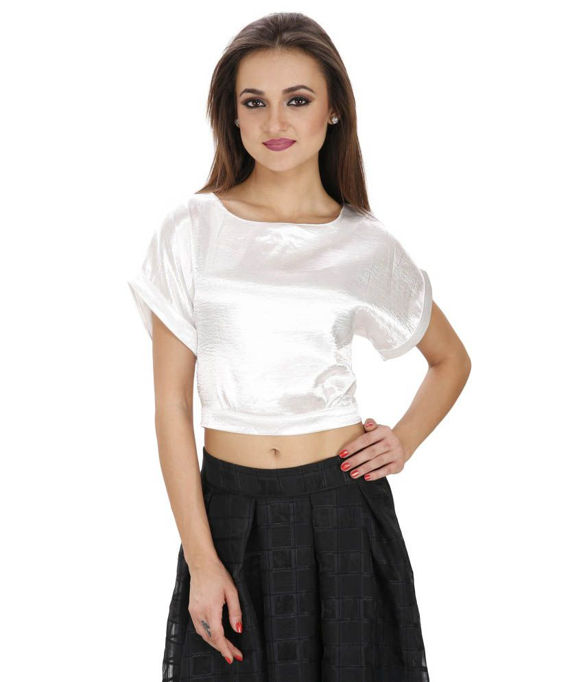 3fc4d6d40e0b4c SVT ADA Collections White Satin Crop Top - Buy SVT ADA Collections White  Satin Crop Top Online at Best Prices in India on Snapdeal