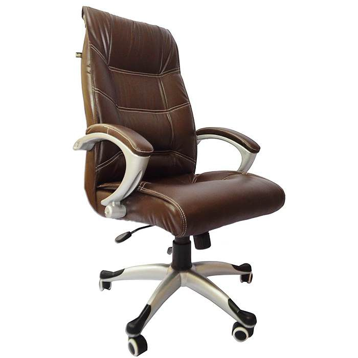 Exceptionnel Regal High Back Executive Chair In Brown Leatherette ...