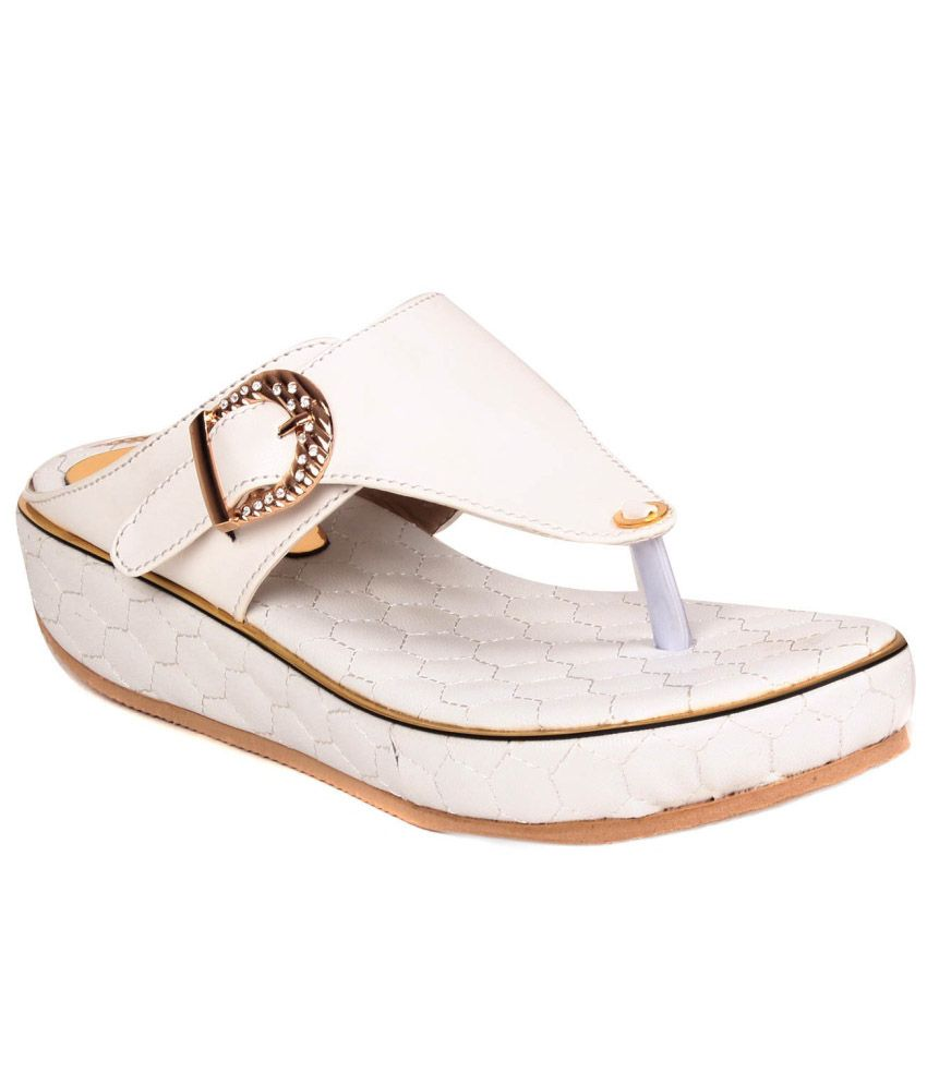 Jenis White Wedges Heels