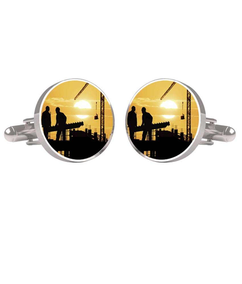 Cufftank Multicolour Metal Cufflinks