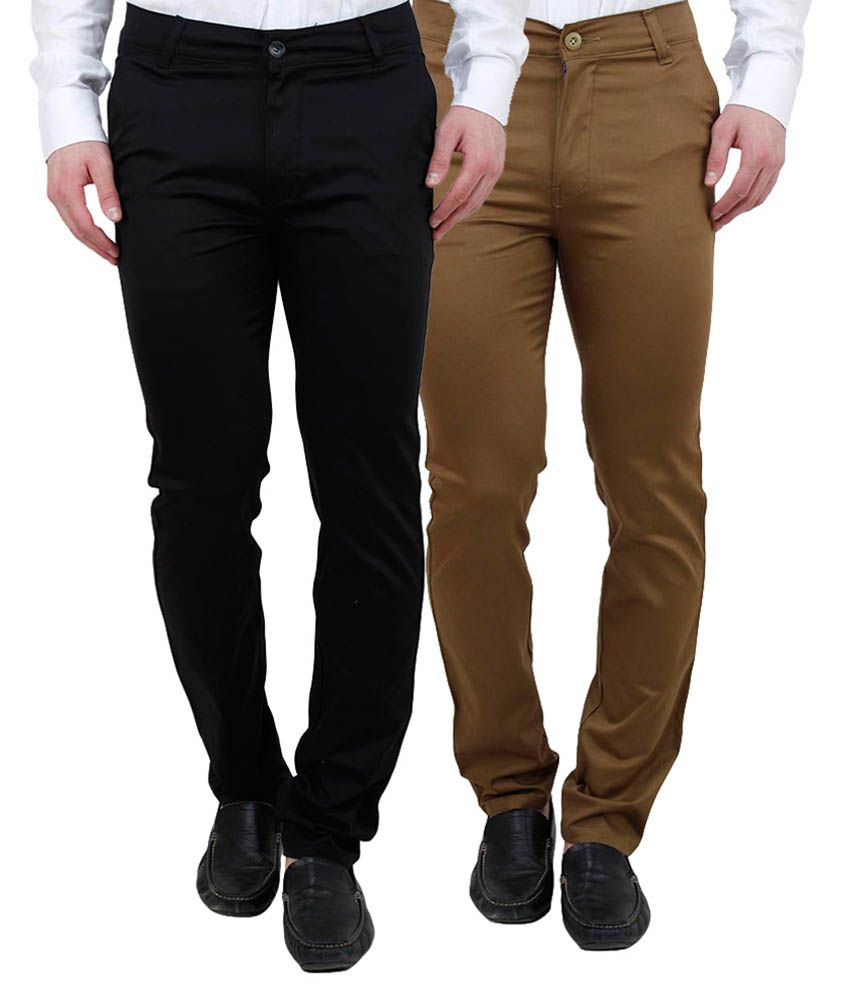 Ansh Fashion Wear Multi Regular Fit Chinos