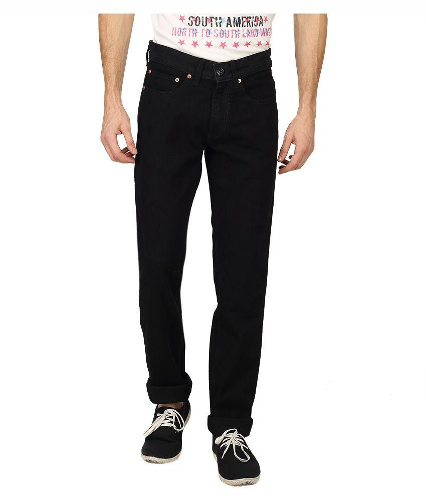 Levi's Black Slim Fit Solid Jeans
