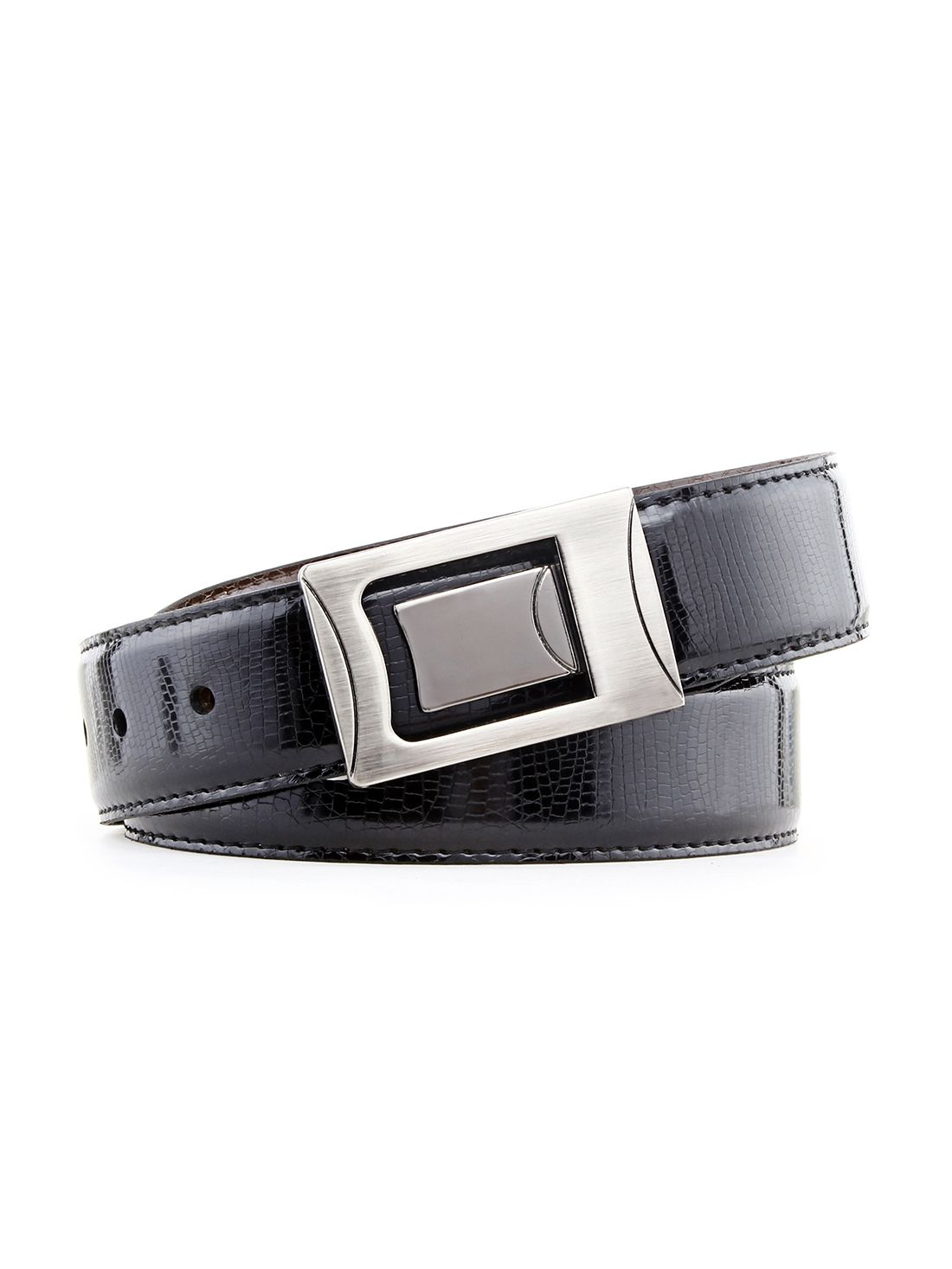 Rhino Black Reversible Belt for Men