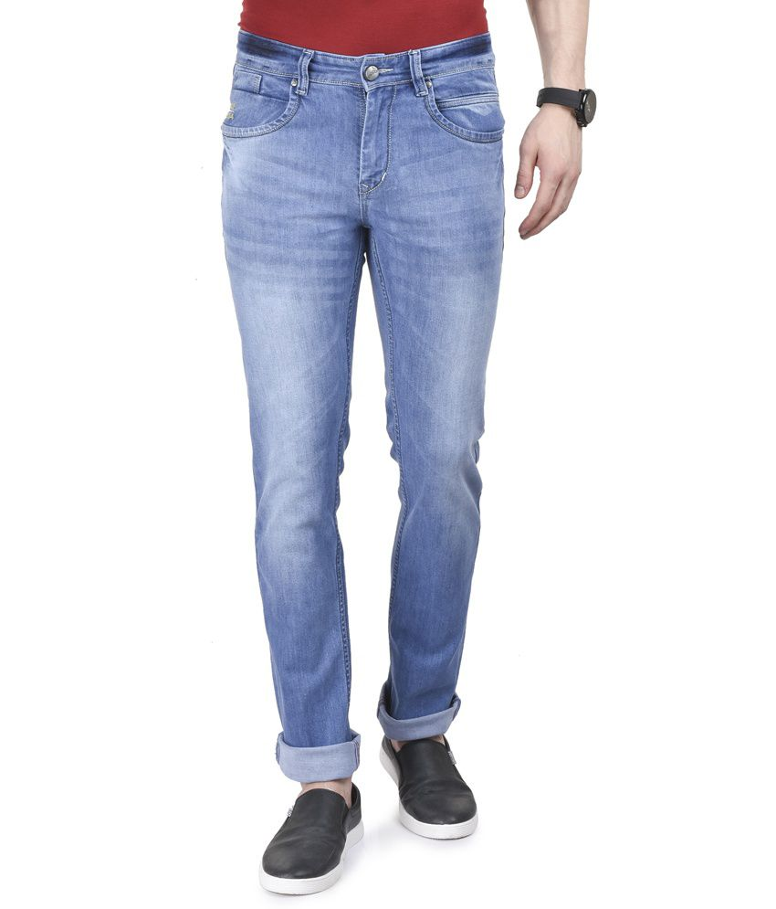 Ruace Blue Slim Fit Washed Jeans