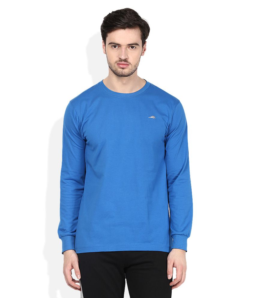 2go Blue Round Neck T-Shirt