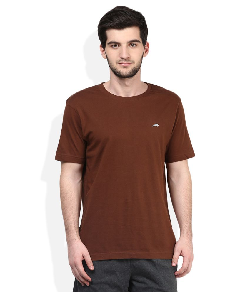 2go Brown Round Neck T-Shirt