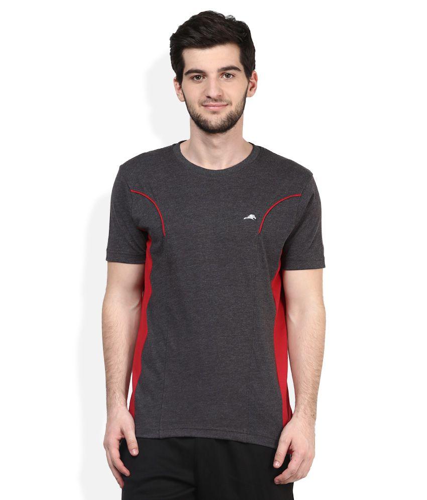 2go Grey Round Neck T-Shirt