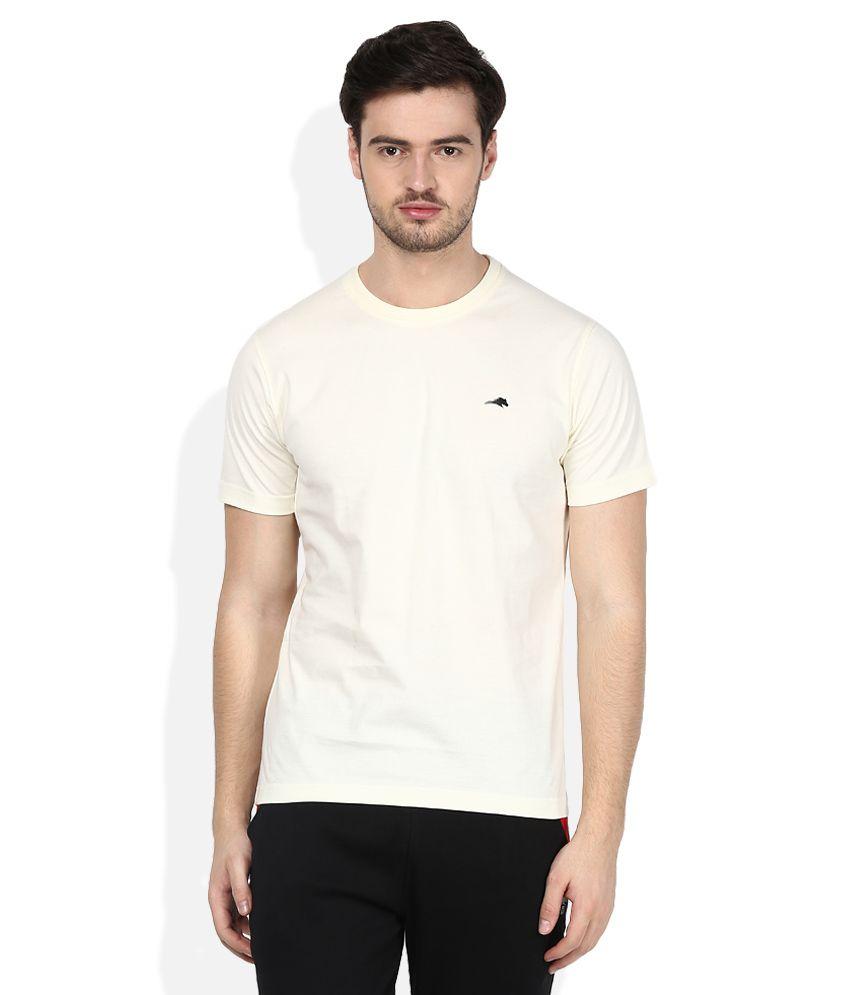 2go Off-White Round Neck T-Shirt