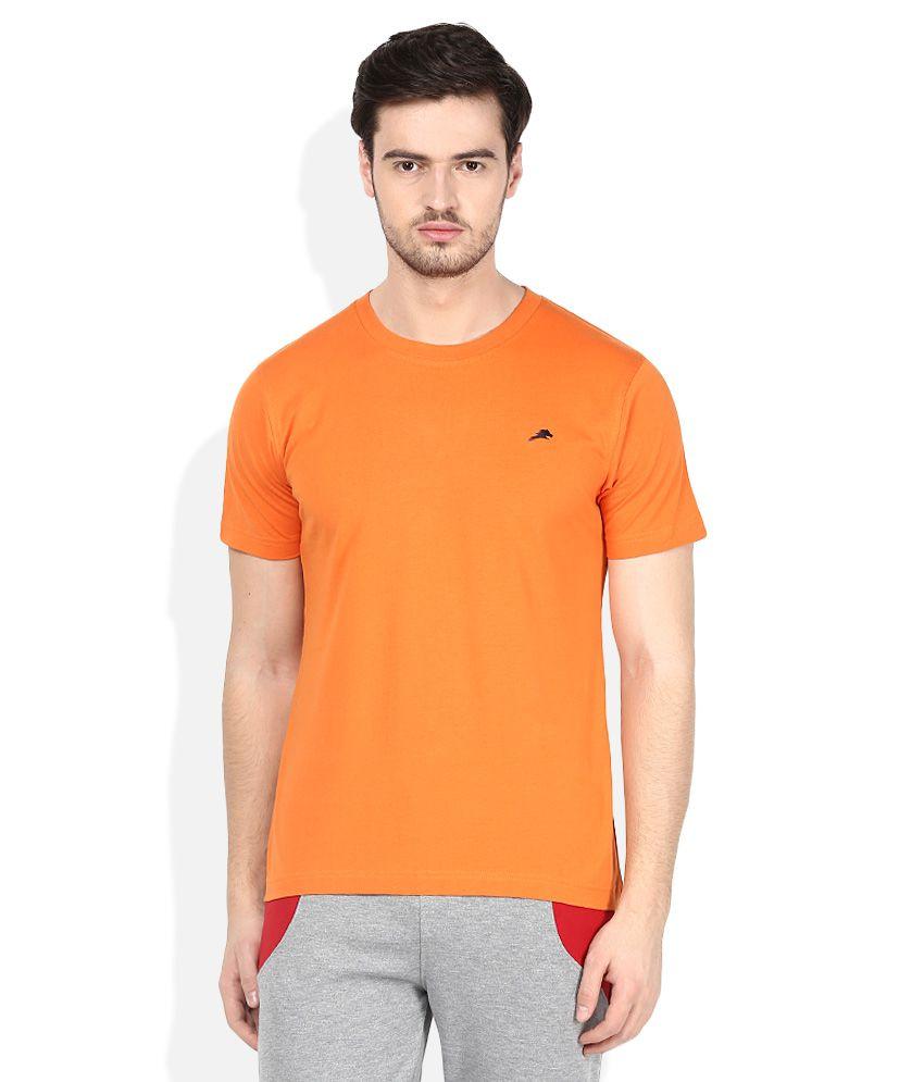 2go Orange Round Neck T-Shirt