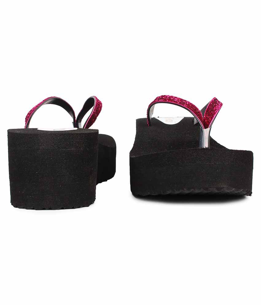 8b66f6b39d Do Bhai Pink Wedges Heels Price in India- Buy Do Bhai Pink Wedges Heels  Online at Snapdeal