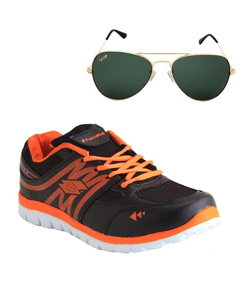 Elligator Black Running Shoes
