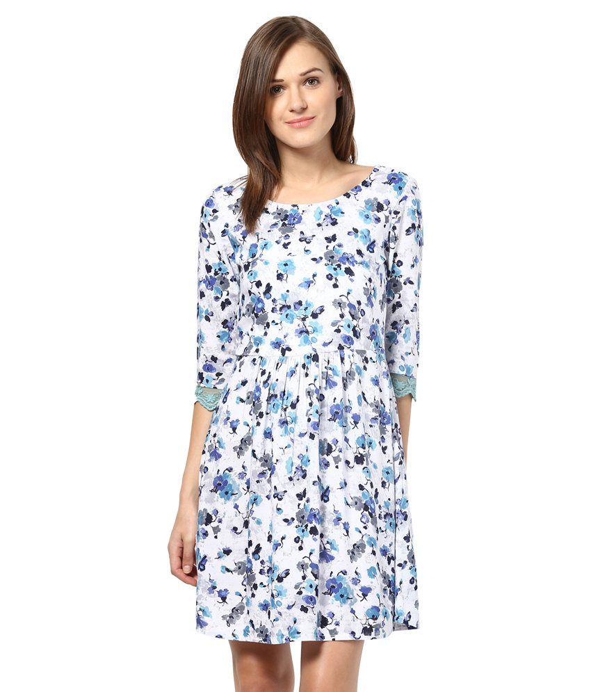 The Vanca Blue Polyester Dresses
