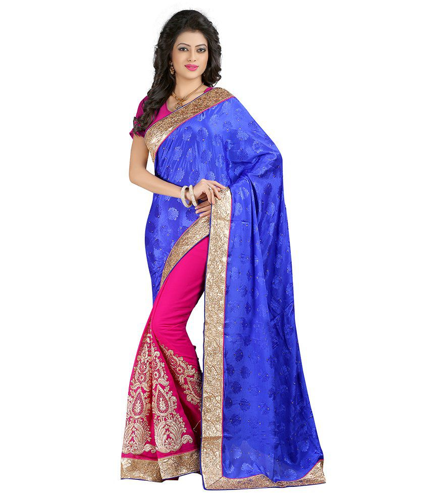 Vedant Lifestyle Blue Georgette Saree