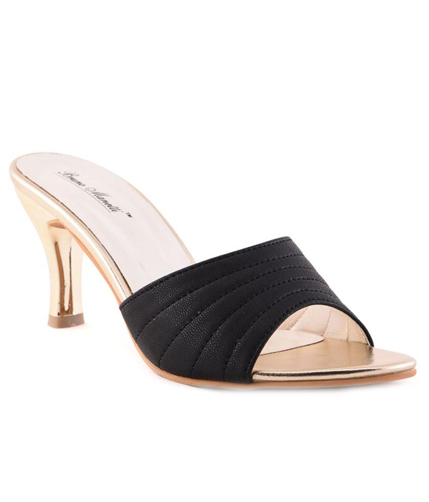 Bruno Manetti Black Stiletto Heels