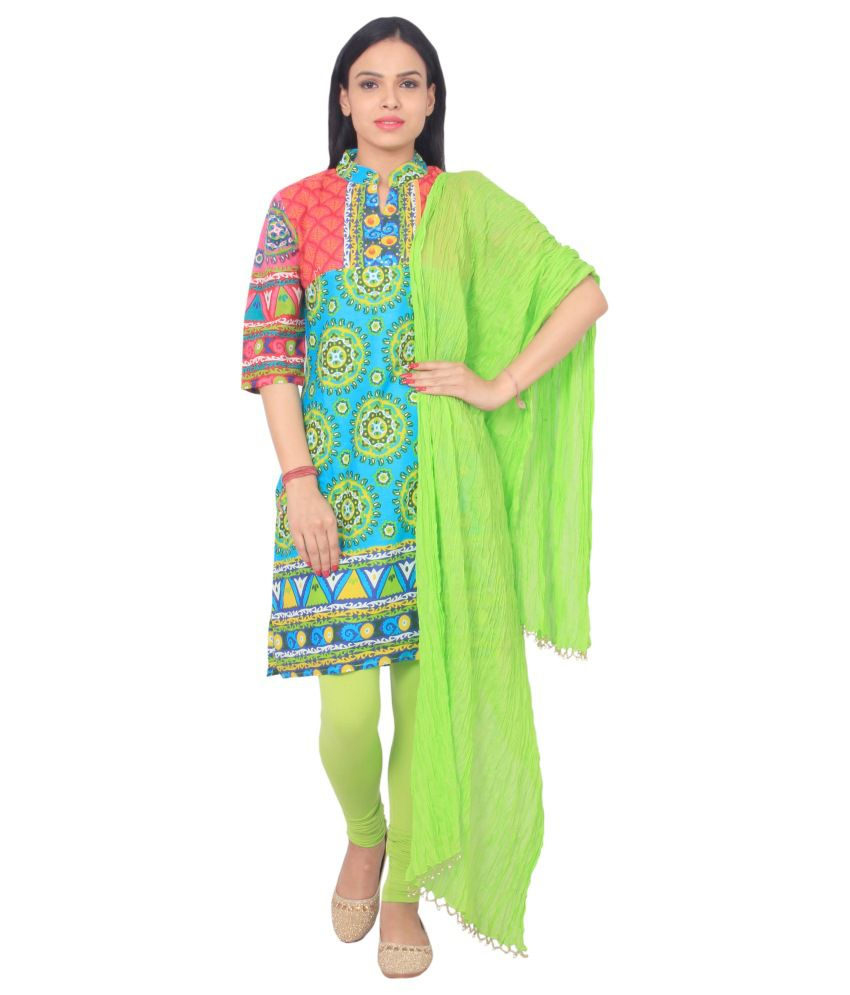 Rama Multi Color Cotton Straight Fit Stitched Salwar Suit