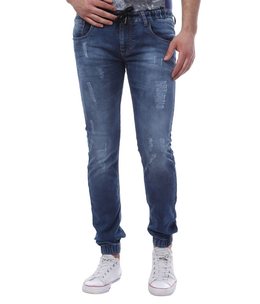 Vintage Blue Slim Fit Jogger Jeans