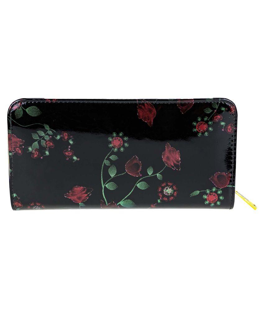 Zeva Black Casual Wallet for Women