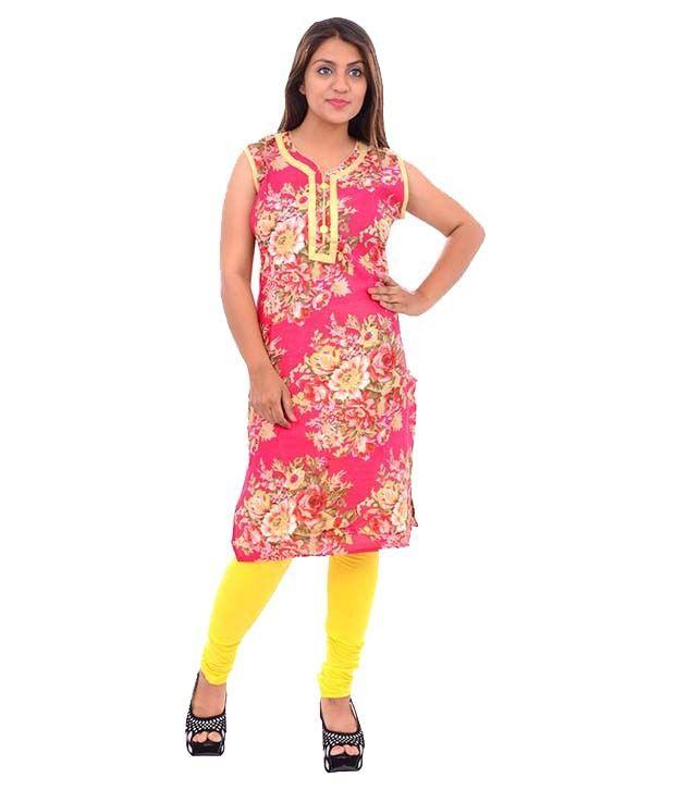 Lavanya Fashion Multi Color Cotton Straight Kurti