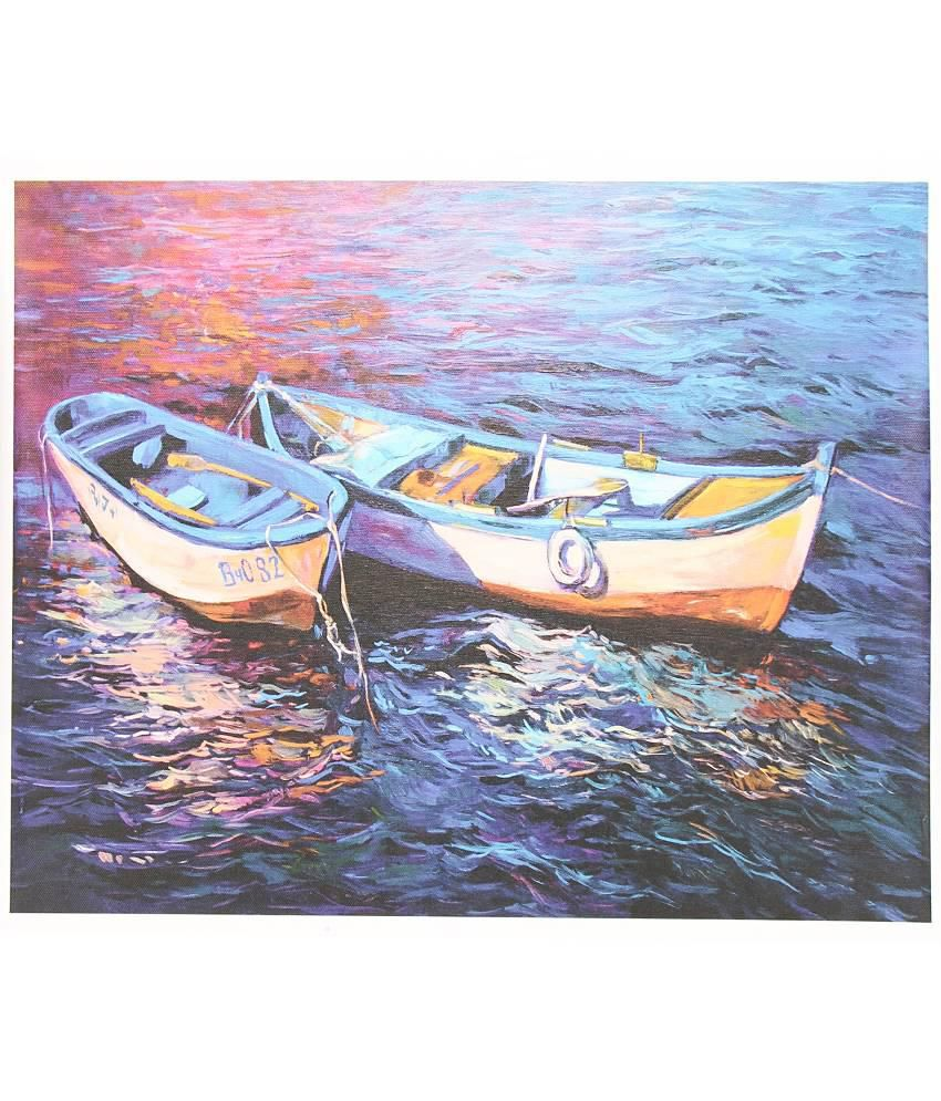Quickprints Multicolour Canvas Painting