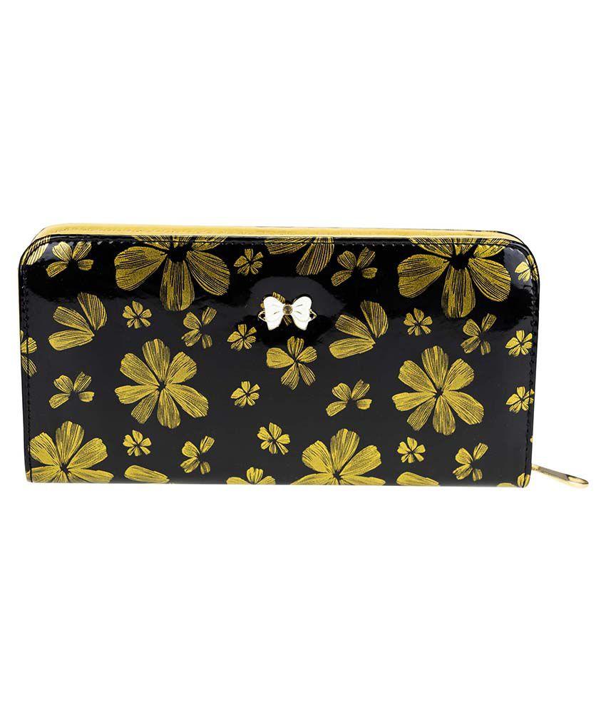 Zeva Yellow Regular Wallet For Women