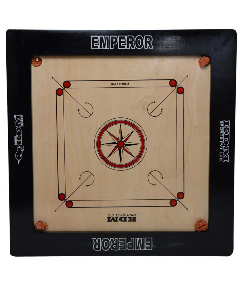 KDM Sports Emperor Carrom Board - 10mm