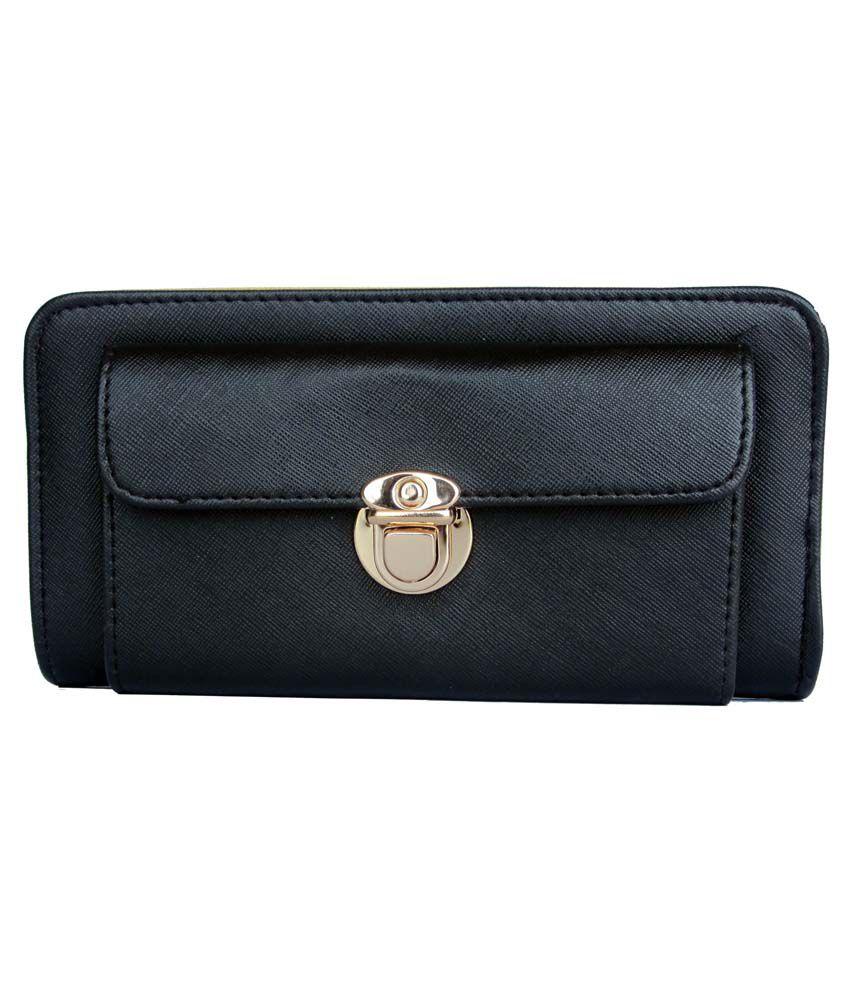 One Look Black P.U Wallet