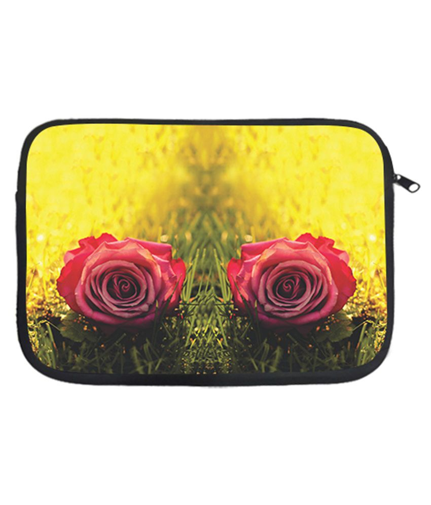 Via Flowers Multicolour Polyester Laptop Sleeve