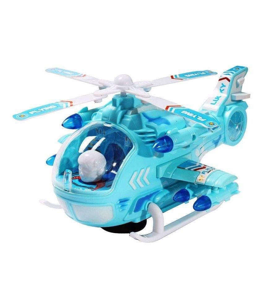 Saurabh Import Saurabh Import Turquoise Plastic Helicopter
