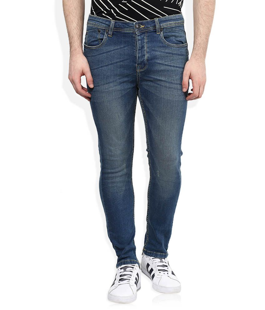 United Colors of Benetton Blue Skinny Faded