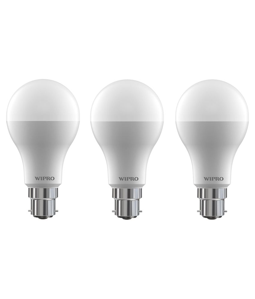 Wipro 10W (Pack Of 3) Led Bulb 6500K Cool Day Light): Buy