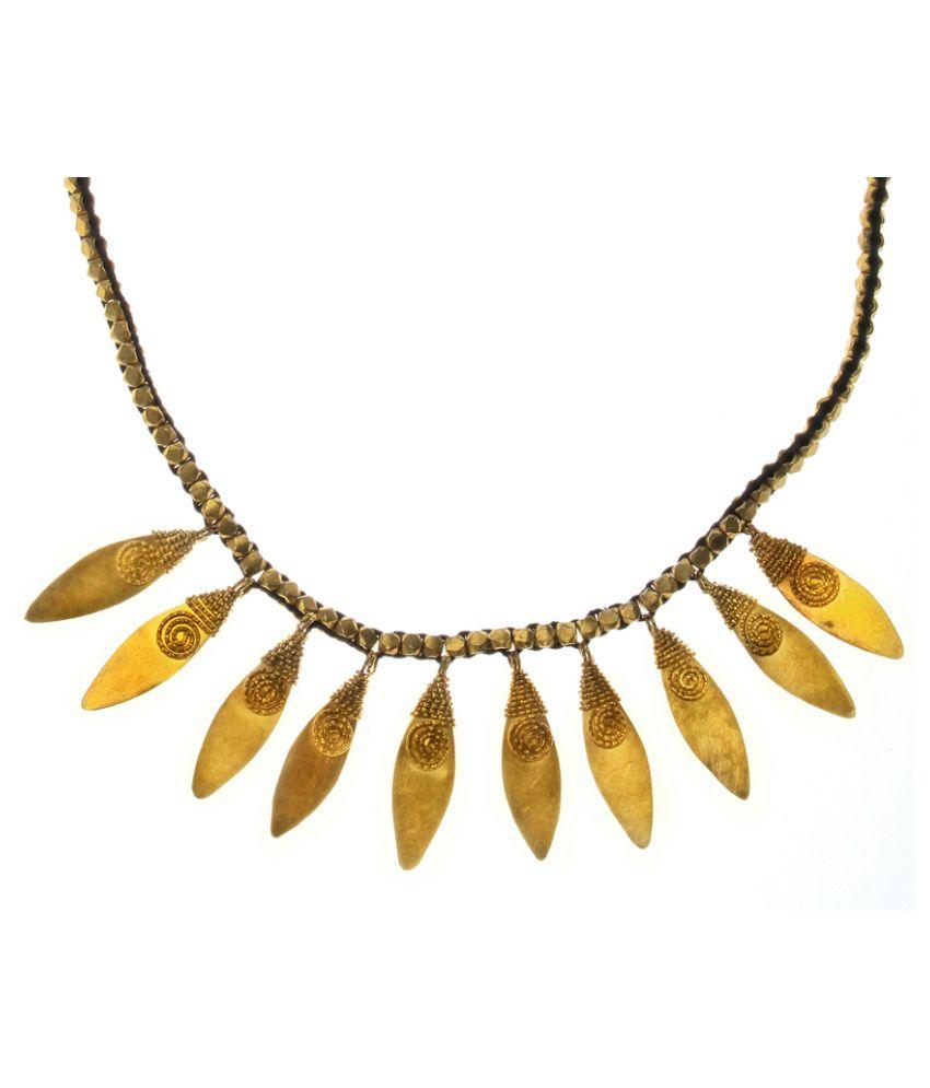 Konart Trade House Golden Brass Necklace