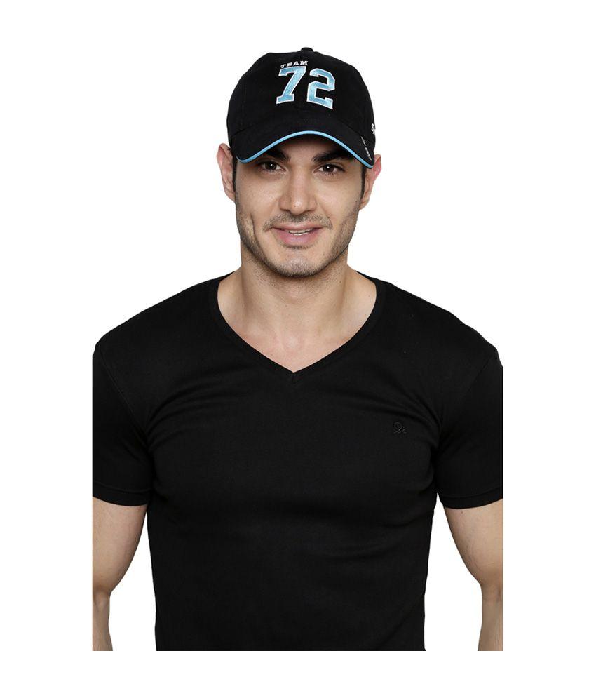 11d5a8b4c9b Sportigo Team 72 Black   Blue Cricket Cap - Buy Online   Rs.