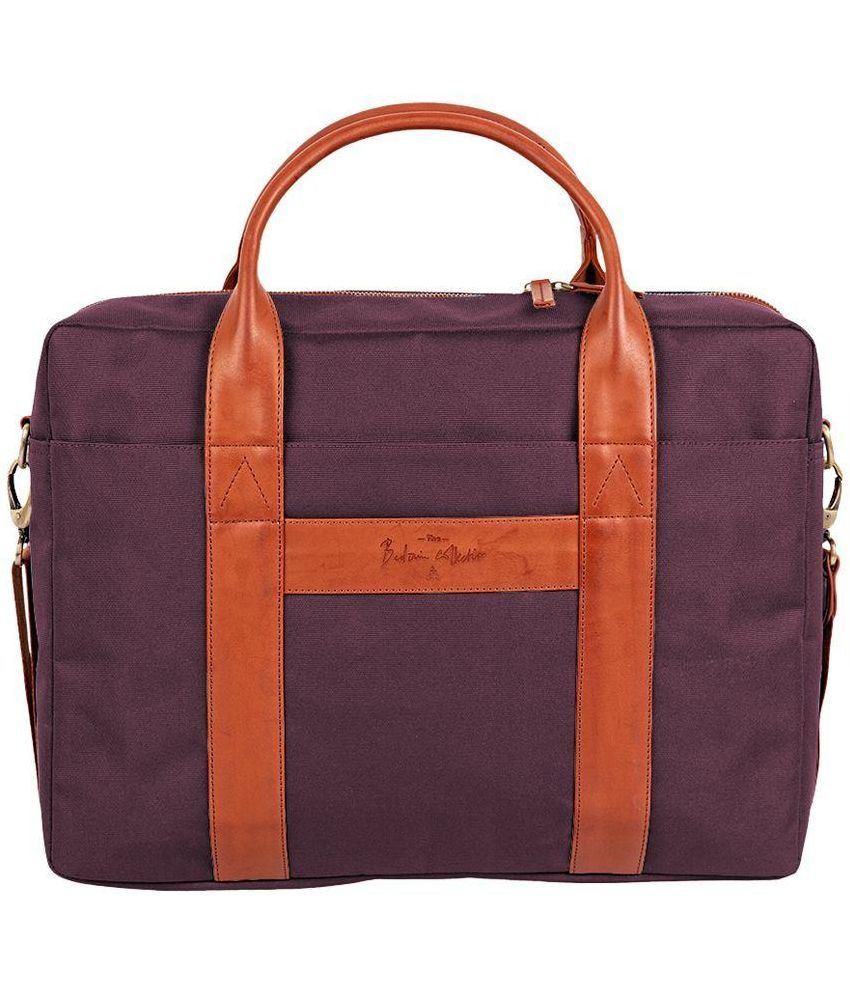 Atorse Purple Laptop Bag
